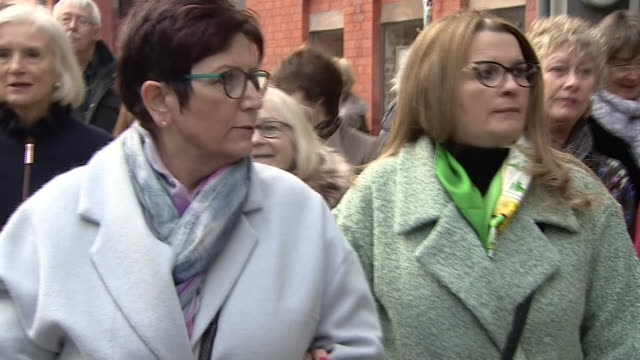 former patients of ian paterson attending the paterson inquiry in birmingham - torso stock videos & royalty-free footage