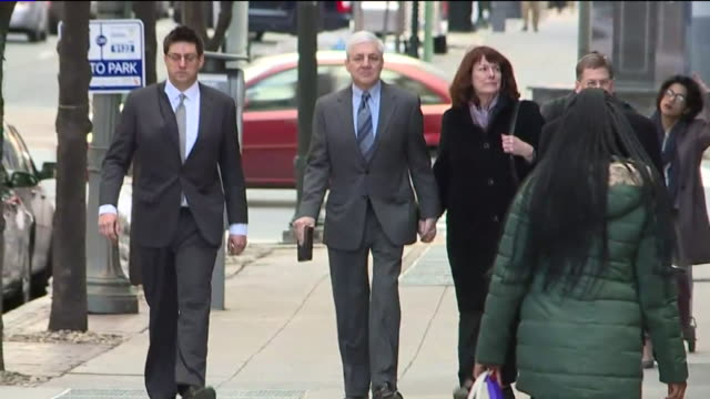 wnep former penn state president graham spanier walks into his second day of trial on march 22 2017 it had been nearly six years since the arrest of... - pennsylvania stock-videos und b-roll-filmmaterial