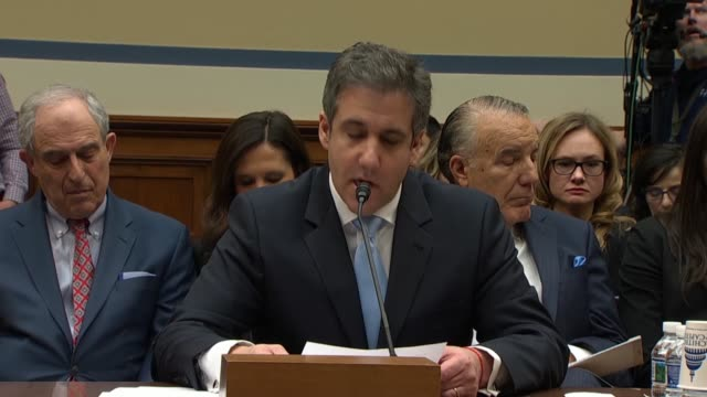 former personal attorney to donald trump michael cohen tells the house oversight and reform committee in prepared remarks that trump is a racist the... - house call stock videos and b-roll footage