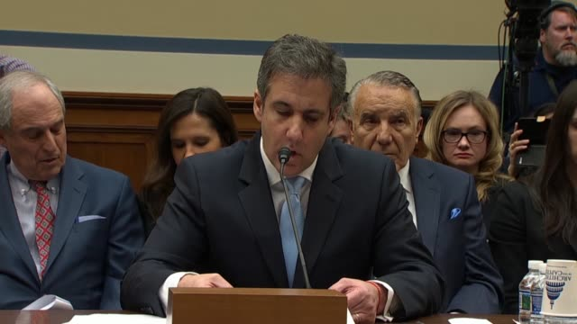 Former personal attorney to Donald Trump Michael Cohen tells the House Oversight and Reform Committee that what struck him about an exchange between...