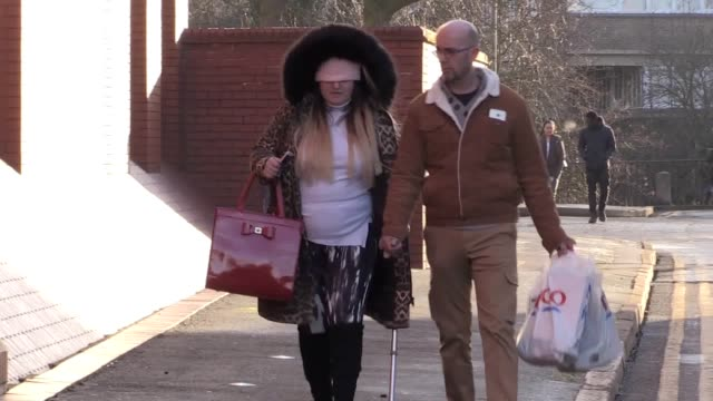 Former pole dancer Natasha Gordon arrives at Leicester Crown Court to be sentenced after encouraging the suicide of a postman Gordon backed out of a...