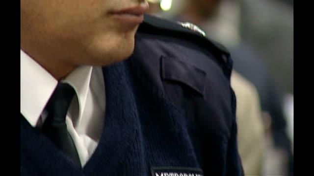 former police commander ali dizaei found guilty of corruption for a second time date close shot dizaei wearing metropolitan police uniform - 警視庁点の映像素材/bロール