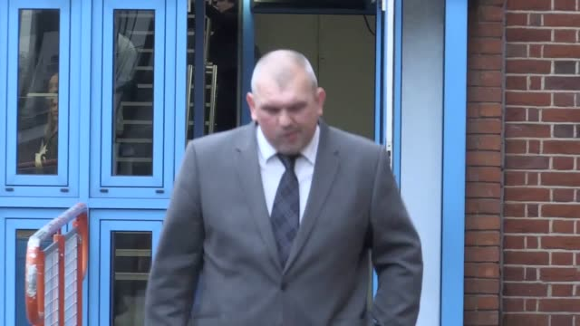 former premier league footballer neil shipperley leaves court after being given a community order for exposing himself and masturbating in the street... - human sexual behaviour stock videos & royalty-free footage