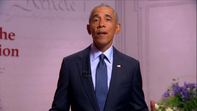 former president barack obama says at the museum of the american revolution to the 2020 democratic national convention that in polarized times most... - refraction stock videos & royalty-free footage