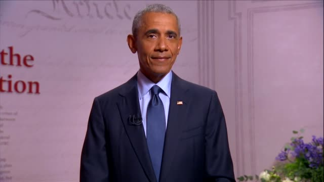 former president barack obama says at the museum of the american revolution to the 2020 democratic national convention that along with the experience... - swine influenza virus stock videos & royalty-free footage