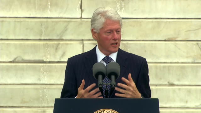 former president bill clinton says that in a great democracy, it should not be harder to vote than to buy an assault rifle during the 50th... - rifle stock videos & royalty-free footage