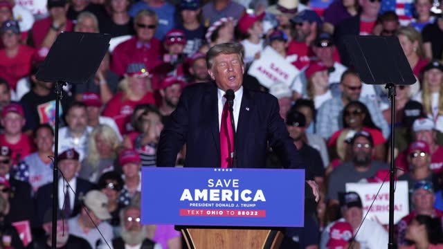 former president donald j. trump continues to claim that there was major voter fraud in the 2020 presidential election at lorain county fairgrounds... - fraud stock videos & royalty-free footage