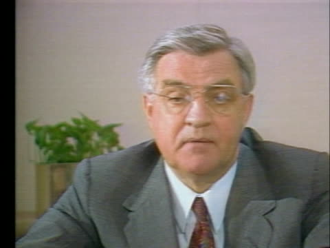 former presidential candidate walter mondale states that president george hw bush will have to level with the american people about his campaign... - (war or terrorism or election or government or illness or news event or speech or politics or politician or conflict or military or extreme weather or business or economy) and not usa video stock e b–roll