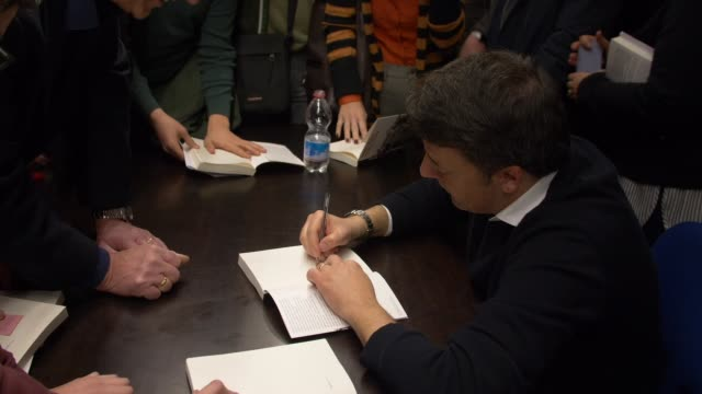 Former Prime Minister and Italian Senator of the Republic Matteo Renzi was invited in Faenza EmiliaRomagna Italy by the local session of the PD to...