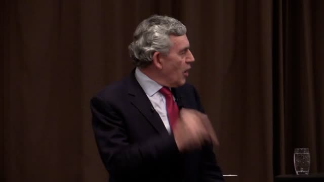 former prime minister gordon brown campaigns for labour and its peterborough byelection candidate lisa forbes - ゴードン ブラウン点の映像素材/bロール