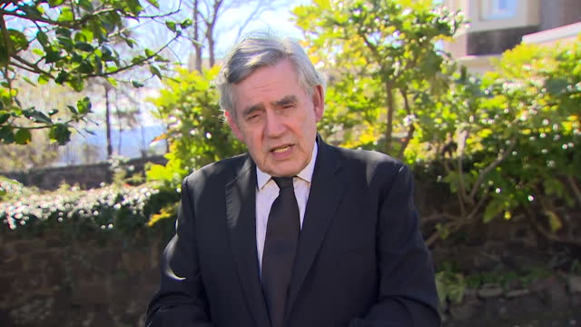 """former prime minister gordon brown saying """"public office should not become the platform for private gain"""" in regards to the david cameron greensill... - business stock videos & royalty-free footage"""