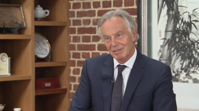 former prime minister tony blair criticising the decision to withdraw troops from afghanistan - north america stock videos & royalty-free footage