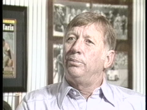 former professional baseball player mickey mantle compares his career to those of willie mays pete rose stan musial and hank aaron - hank aaron stock videos & royalty-free footage