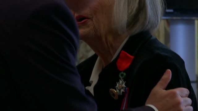 Former Royal Navy wren awarded Legion d'Honneur medal for codebreaking ENGLAND London French Embassy INT Patricia Davies presented with legion...
