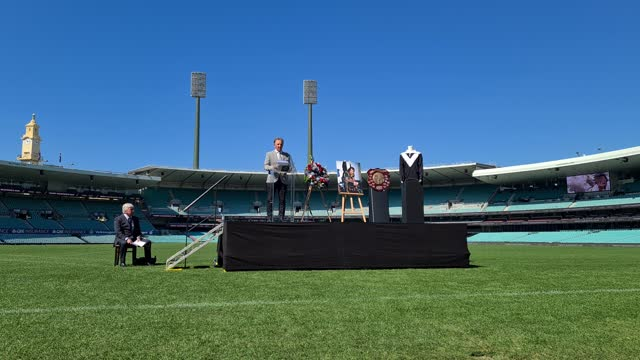 former rugby league player john dorahy speaks during the tommy raudonikis memorial service at the sydney cricket ground on april 19, 2021 in sydney,... - australian national team stock videos & royalty-free footage