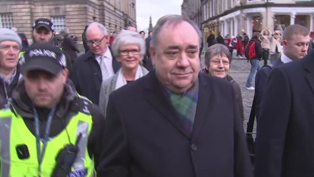 former scotland first minister alex salmond appears in court on attempted rape and sexual assault charges scotland edinburgh ext alex salmond... - alex salmond stock videos & royalty-free footage