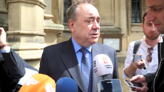 former scotland first minister and newly-elected member of parliament, alex salmond and scotland's first minister and leader of the scottish national... - member of the scottish parliament stock videos & royalty-free footage