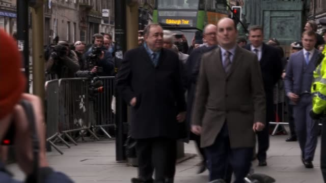 former scottish first minister alex salmond cleared of attempted rape and sexual assault charges scotland edinburgh ext various of alex salmond away... - alex salmond stock videos & royalty-free footage