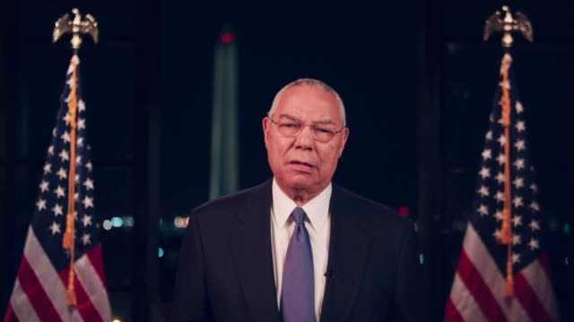 former secretary of state colin powell says the united states needs a commanderinchief who took care of the troops in the same way he would his own... - other stock videos & royalty-free footage