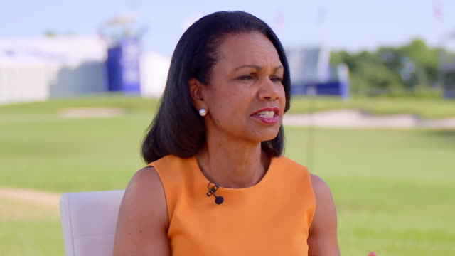 former secretary of state, condoleeza rice speaks of the united states has the strongest set of institutions of any country in the world. - united states and (politics or government)点の映像素材/bロール