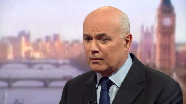 former secretary of state for work and pensions iain duncan smith saying he wants cameron and his government to succeed but they need to stop bearing... - employment issues stock videos & royalty-free footage