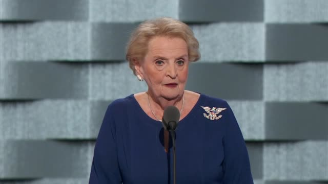 Former Secretary of State Madeleine Albright discusses the nomination of Hillary Clinton at the convention telling delegates that Clinton has the...