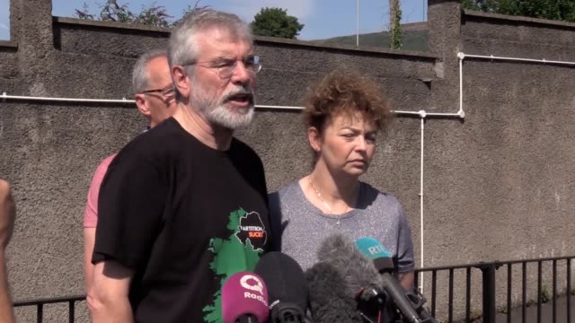 Former Sinn Fein president Gerry Adams calls on those who attacked his home to meet him and explain why they did it after the homes of Mr Adams and...