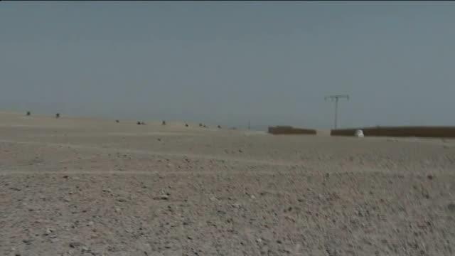former soldier avoids jail for road rage attack t07071006 helmand province ext british troops firing weapons in desert area during gun battle... - gefängnisausbruch stock-videos und b-roll-filmmaterial
