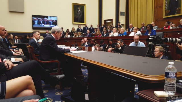 former special counsel robert mueller testifies before the house judiciary committee about his report on russian interference in the 2016... - united states congress stock videos & royalty-free footage