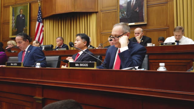former special counsel robert mueller testifies before the house judiciary committee about his report on russian interference in the 2016... - house of representatives stock videos & royalty-free footage