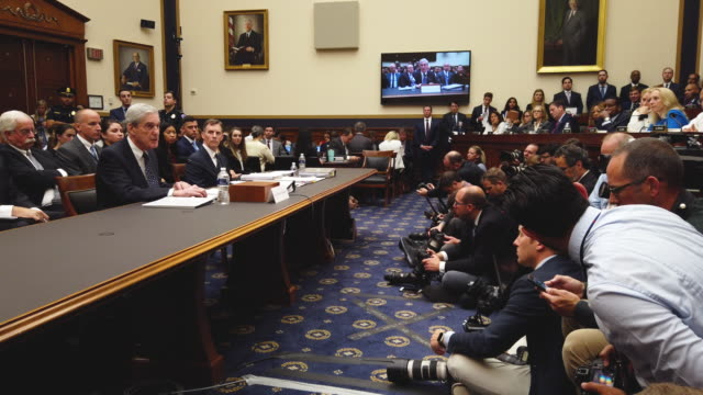 vídeos y material grabado en eventos de stock de former special counsel robert mueller testifies before the house judiciary committee about his report on russian interference in the 2016... - united states congress
