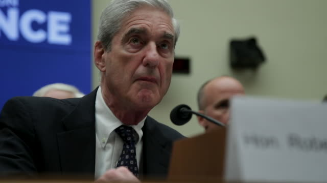 former special counsel robert mueller testifies before the house intelligence committee about his report on russian interference in the 2016... - testimony stock videos & royalty-free footage