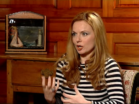 former spice girl becomes children's author geri halliwell interview sot it is a rebirth of girl power / her insides are that / she is human / she is... - geri horner stock videos & royalty-free footage
