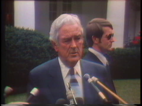 former texas governor john connally endorses gerald ford for president stating that ford is the better choice for the republican party and the united... - john connally stock videos & royalty-free footage