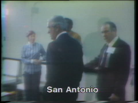 former treasury secretary john connally arriving at a press conference where he said he suggested to nixon he should destroy the watergate tapes - john connally stock videos & royalty-free footage