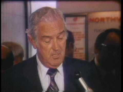 former treasury secretary john connally comments on three possible reasons why certain republicans might not want to see his name on the 1976 ballot - john connally stock videos & royalty-free footage