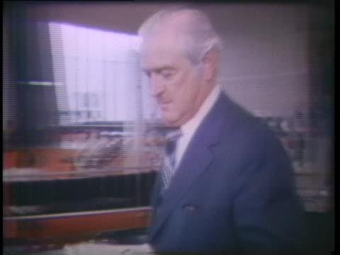 former treasury secretary john connally walks in the washington dc airport - john connally stock videos & royalty-free footage