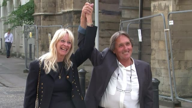 former tremeloes' band members formally acquitted of assaulting girl england berkshire reading crown court ext leonard hawkes / len hawkes and... - westwood stock-videos und b-roll-filmmaterial