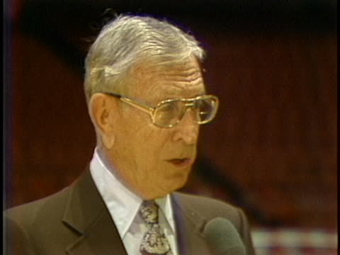 former ucla basketball coach john wooden says a coach should not change his lineup for a playoff game and players should stick to their method of... - playoffs stock videos & royalty-free footage