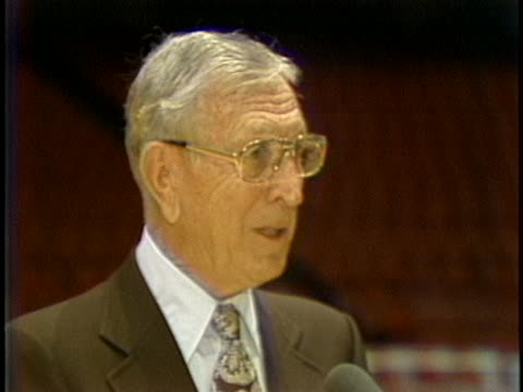 former ucla basketball coach john wooden says he was primarily a teacher and enjoyed his close association with the players. - sport stock videos & royalty-free footage
