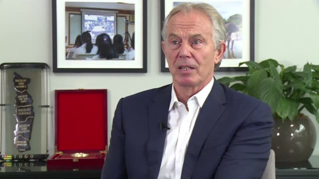former uk prime minister tony blair describes how populism from both ends of the political spectrum is at risk of breaking the back of western... - populism stock videos and b-roll footage