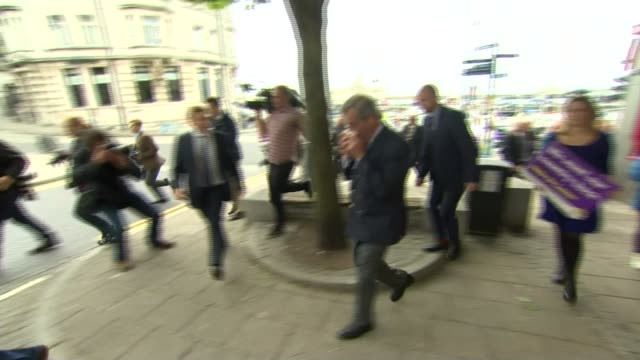 former ukip aide faces money laundering charges in arizona lib / 1362016 kent ramsgate ext then ukip leader nigel farage mep along with aide george... - ramsgate stock videos and b-roll footage