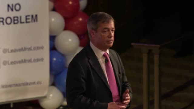 former ukip leader nigel farage's speech at the leave means leave rally in central london he calls on brexiteers to get ready for a possible second... - nigel farage stock videos & royalty-free footage
