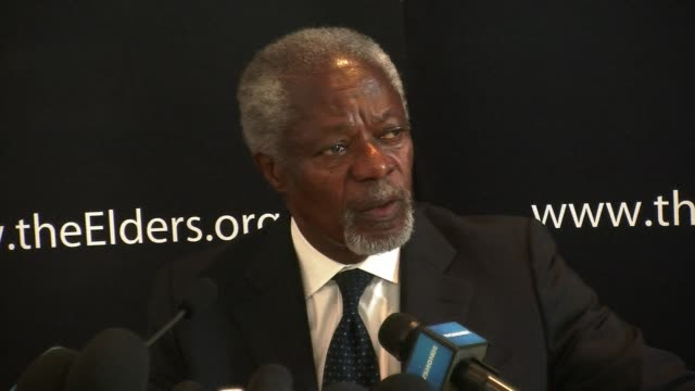 former un secretary general kofi annan said monday that if african leaders voted to leave the international criminal court it would be to protect... - international criminal court stock videos and b-roll footage