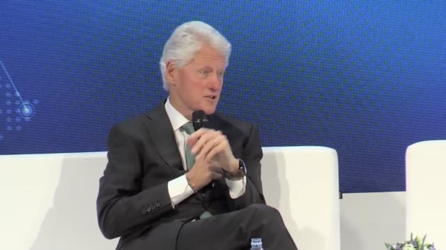 former us president bill clinton has called gun companies a paranoia machine and has made a jibe about tax returns whilst speaking at a health... - paranoia stock videos & royalty-free footage