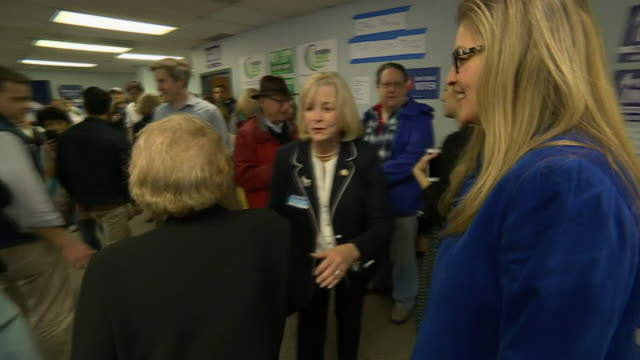 former us secretary of state madeleine albright visiting the campaign offices of democratic party candidate jennifer wexton in north virginia - virginia us state stock videos & royalty-free footage