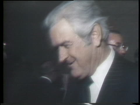 former us secretary of the treasury john connally a recent convert to the republican party shakes hands with people at a political event - john connally stock videos & royalty-free footage