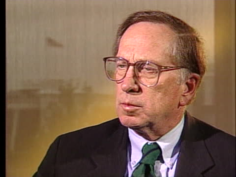former us senator sam nunn states that nuclear testing makes it more likely that a miscalculation or accident will occur - environment or natural disaster or climate change or earthquake or hurricane or extreme weather or oil spill or volcano or tornado or flooding stock videos & royalty-free footage