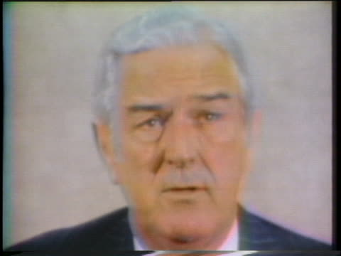 former us treasury secretary john connally states that he did believe the nixon tapes should have never been recorded and also should be destroyed if... - john connally stock videos & royalty-free footage