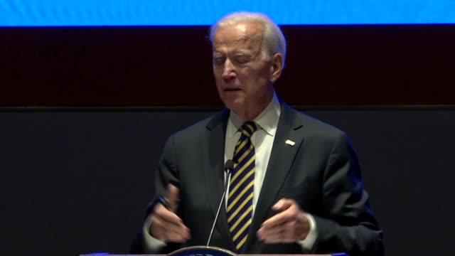 Former Vice President Joe Biden asks House Democrats at an annual issues conference who in God's name would of thought they would be there at that...